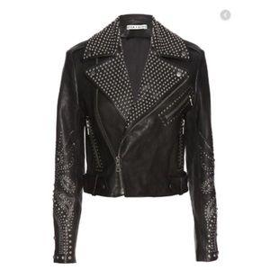 Alice + Olivia Cody Lamb Studded Leather Jacket